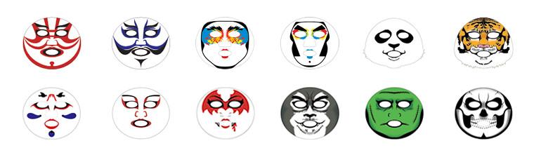 歌舞伎フェイスパックラインナップ